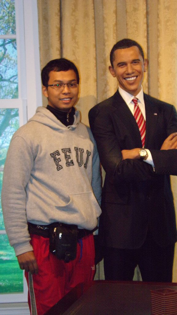 "with ""Mr. President""--Tussauds Museum"