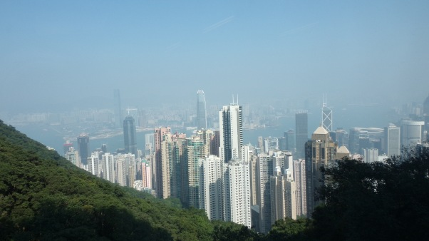 The view of HK city from The Peak